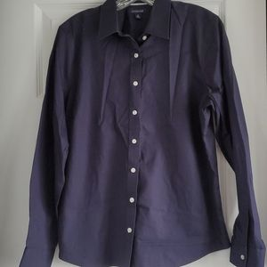 Lands End botton down blouse